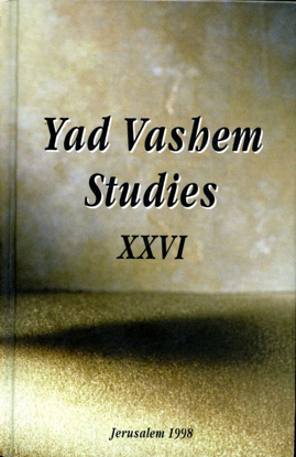 Picture of Beneficiaries of Aryanization in Yad Vashem Studies, Volume XXVI