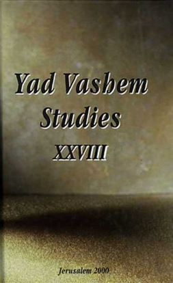 "תמונה של The Origins of ""Operation-Reinhard"" in Yad Vashem Studies, Volume XXVIII"